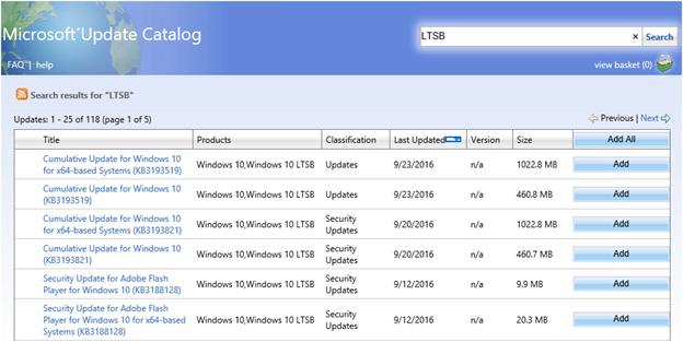 カタログ windows update Windows Update